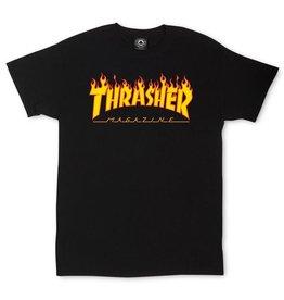 Thrasher THRASHER FLAME T-SHIRT BLACK