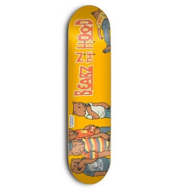 SKATE MENTAL SKATE MENTAL, DECKS, SM x GRIZZLY, BEARZ IN THE HOOD, 8.375, YELLOW