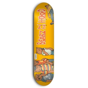 SKATE MENTAL SKATE MENTAL, DECKS, SM x GRIZZLY, BEARZ IN THE HOOD, 8.375, YELLOW