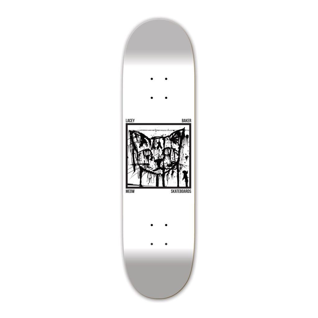 MEOW Decks Meow Skateboards Lacey Baker Ink Splat 7.75