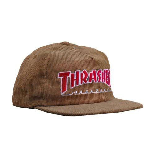 Thrasher THRASHER MAGAZINE LOGO CORDUROY SNAPBACK GOLD