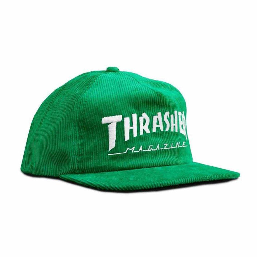 Thrasher THRASHER MAGAZINE LOGO CORDUROY SNAPBACK GREEN