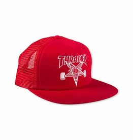 Thrasher THRASHER SKATEGOAT EMBROIDERED MESH CAP RED/WHITE