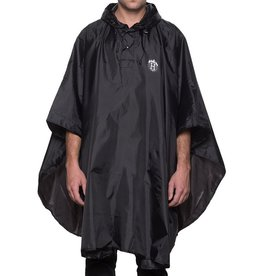 Thrasher HUF, THRASHER PACKABLE PONCHO - iNDY, BLACK OS