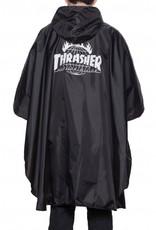 Thrasher HUF, THRASHER PACKABLE PONCHO - iNDY, BLACK OS