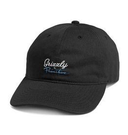 PRIMITIVE PRIMITIVE, SCRIPT LOGO DAD HAT, BLACK