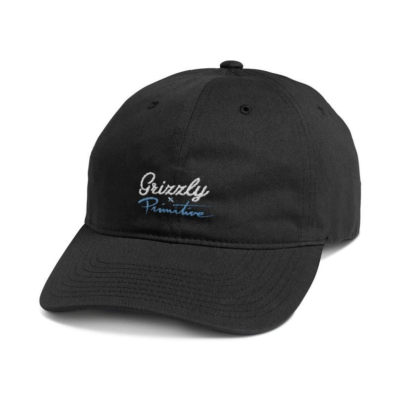 PRIMITIVE PRIMITIVE, SCRIPT LOGO DAD HAT, BLACK