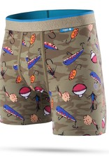 STANCE STANCE, UNDERWEAR, WHOLESTER, BAIT AND TACKLE, GREEN, L
