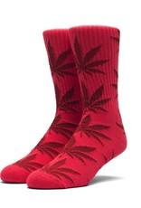 HUF HUF, PLANTLIFE CREW SOCK, RED/DARK RED