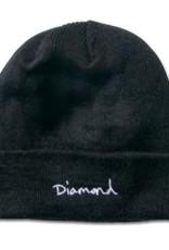 DIAMOND DIAMOND, OG SCRIPT BEANIE, BLACK