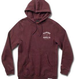 DIAMOND DIAMOND, ATHLETIC HOODIE, BURGUNDY