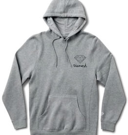 DIAMOND DIAMOND, OG SIGN HOODIE HO17, HEATHER GREY