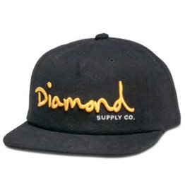 DIAMOND DIAMOND, OG SCRIPT SPORTS HAT H17 , BLACK