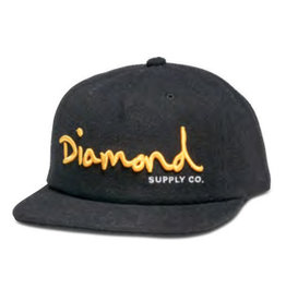 DIAMOND DIAMOND, OG SCRIPT SPORTS HAT H17 , BLACK
