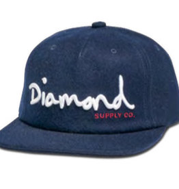 DIAMOND DIAMOND, OG SCRIPT UNCONSTRUCTED SNAPBACK HO17, NAVY