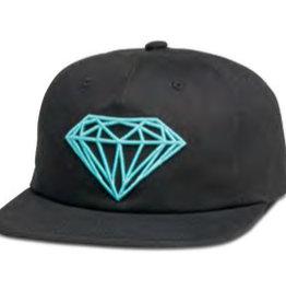 DIAMOND DIAMOND, BRILLIANT UNCONSTRUCTED SNAPBACK H17, BLACK