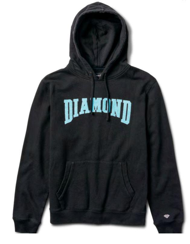 DIAMOND DIAMOND, CONFERENCE HOODIE, BLACK
