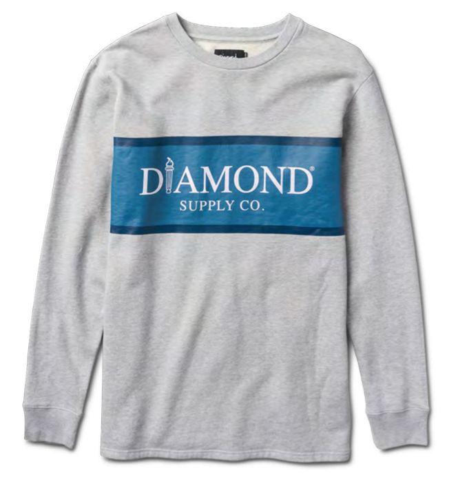 DIAMOND DIAMOND, MAYFAIR FLEECE TOP, HEATHER GREY
