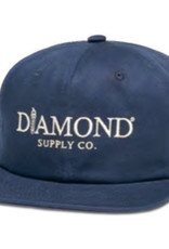 DIAMOND DIAMOND, MAYFAIR UNCONSTRUCTED STRAPBACK, NAVY