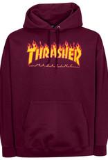 Thrasher THRASHER FLAME HOOD MAROON