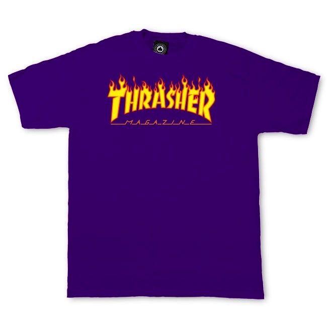 Thrasher THRASHER FLAME S/S TEE PURPLE