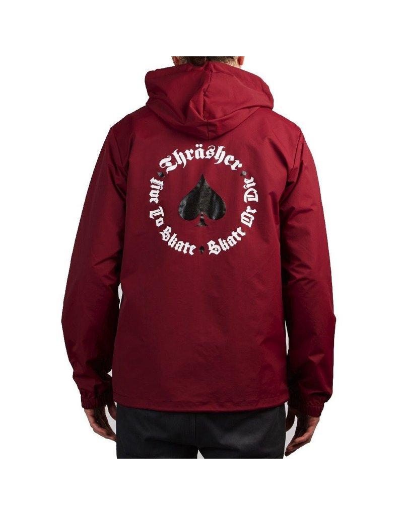 Thrasher THRASHER NEW OATH COACH JACKET CARDINAL
