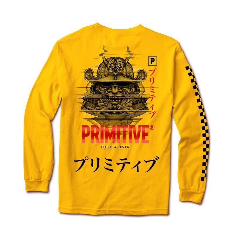 PRIMITIVE PRIMITIVE, SAMURAI L/S TEE, GOLD