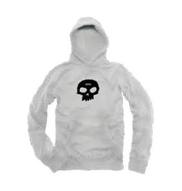 ZERO ZERO SINGLE SKULL PULLOVER HOODIE WHITE