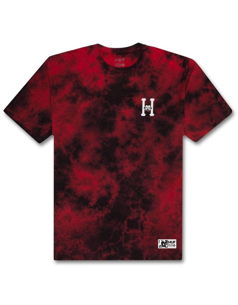 HUF HUF, FELIX CLASSSIC H WASH S/S TEE, RED