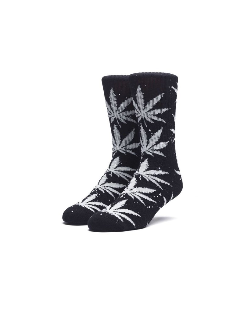 HUF HUF, SPLATTER PLANTLIFE SOCKS, BLACK