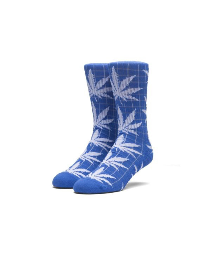 HUF HUF, GRID PLANTLIFE SOCKS, BLUE/WHITE