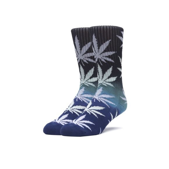 HUF HUF, GRADIENT PLANTLIFE SOCKS, BLACK/BLUE