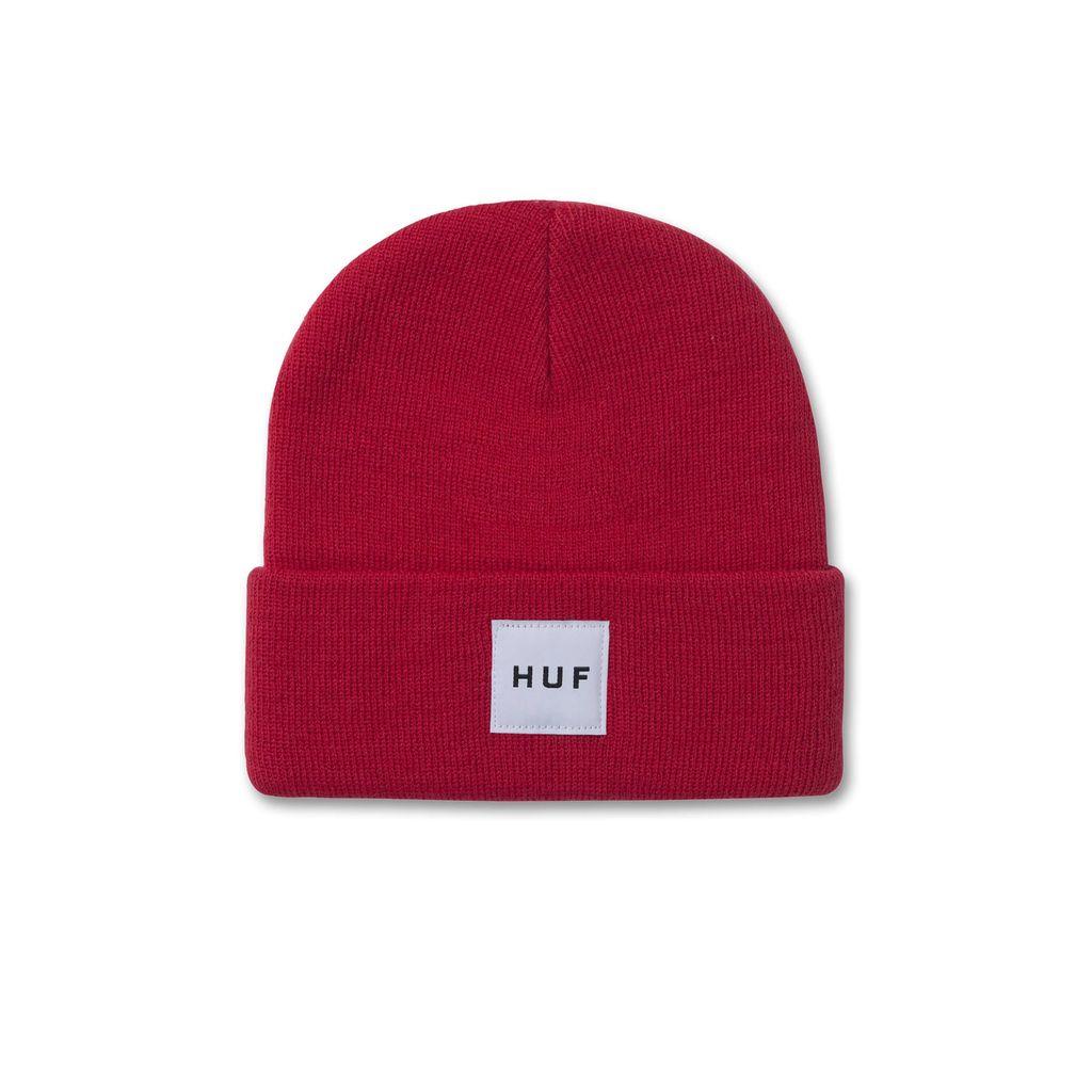 HUF HUF, BOX LOGO BEANIE, RED