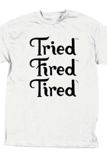 TIRED, APPAREL, FIRED STACK TEE