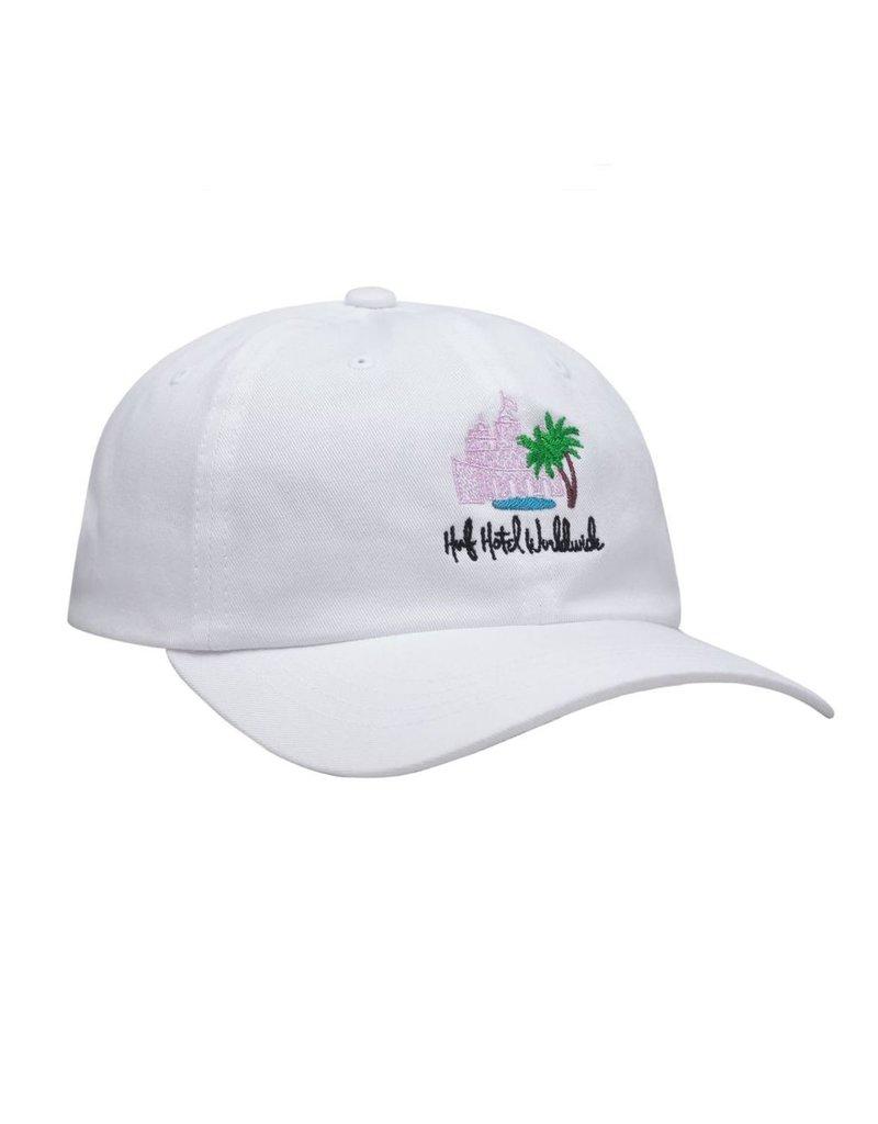 HUF HUF, SMOKERS LOUNGE VALET HAT, WHITE