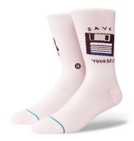 STANCE STANCE, MEN, SAVE YOURSELF, PINK, L