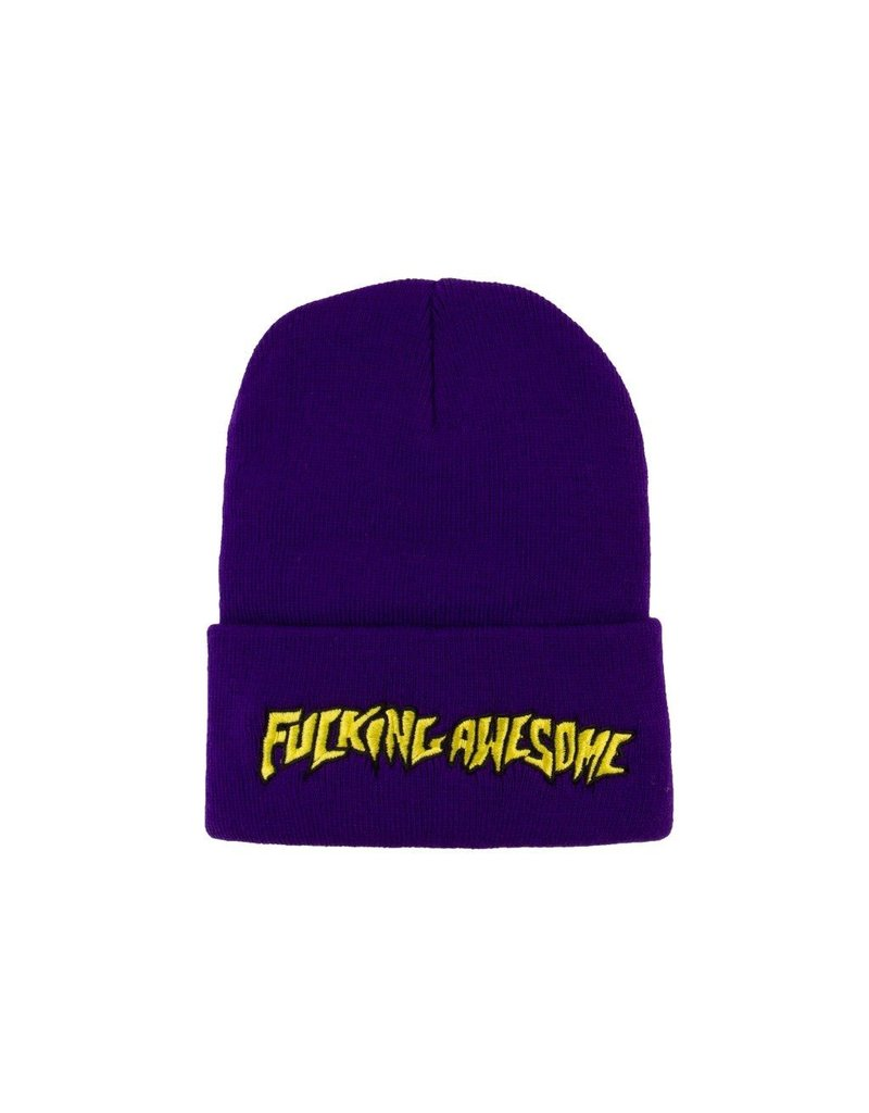 FUCKING AWESOME FA Outline Yellow Beanie Purple O/S