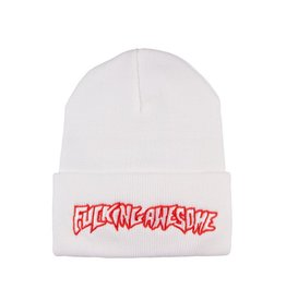 FUCKING AWESOME FA Outline Red Beanie White O/S