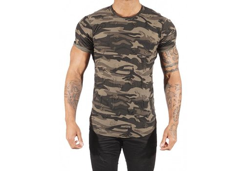 Project X Paris CAMOUFLAGE TEE SHIRT  GREEN