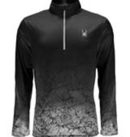 Spyder Limitless 1/4 Zip Dry Web Black Crackle