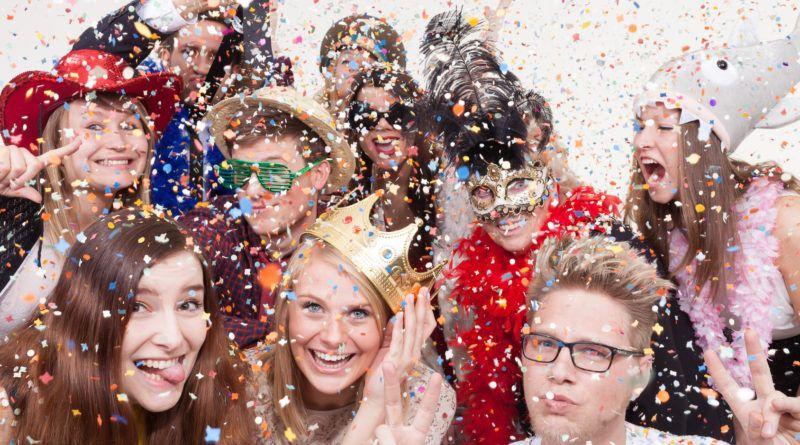 Carnavallen met collega's