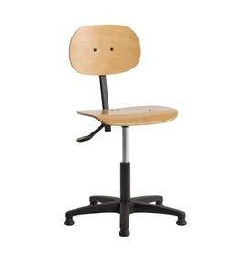 Werkplaatsstoel InoW4 met glijdoppen