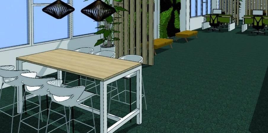 Velvet en emerald voor hét trendy kantoor