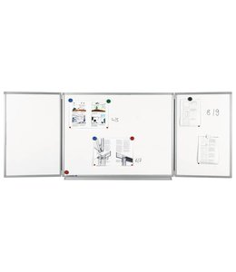 Legamaster Whiteboard 5-vlaks Pro (geëmailleerd)