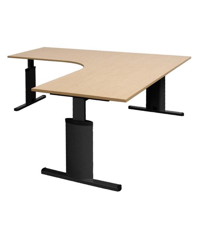 OP=OP Bureautafel InoPro Connecto hoekopstelling Links