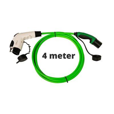 Ratio Laadkabel type 1 naar type 2 - 1 fase - 16A - 4 meter
