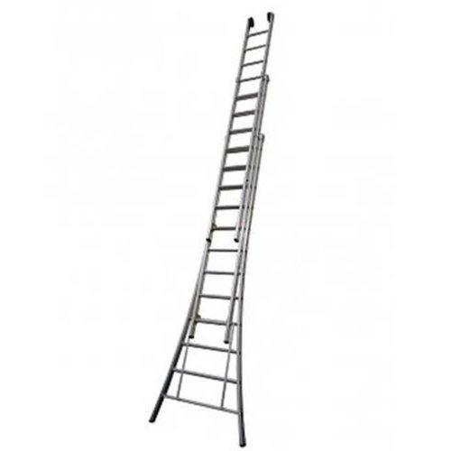 MAXALL® Driedelige ladder pro 3x14 sport met gevelrollen