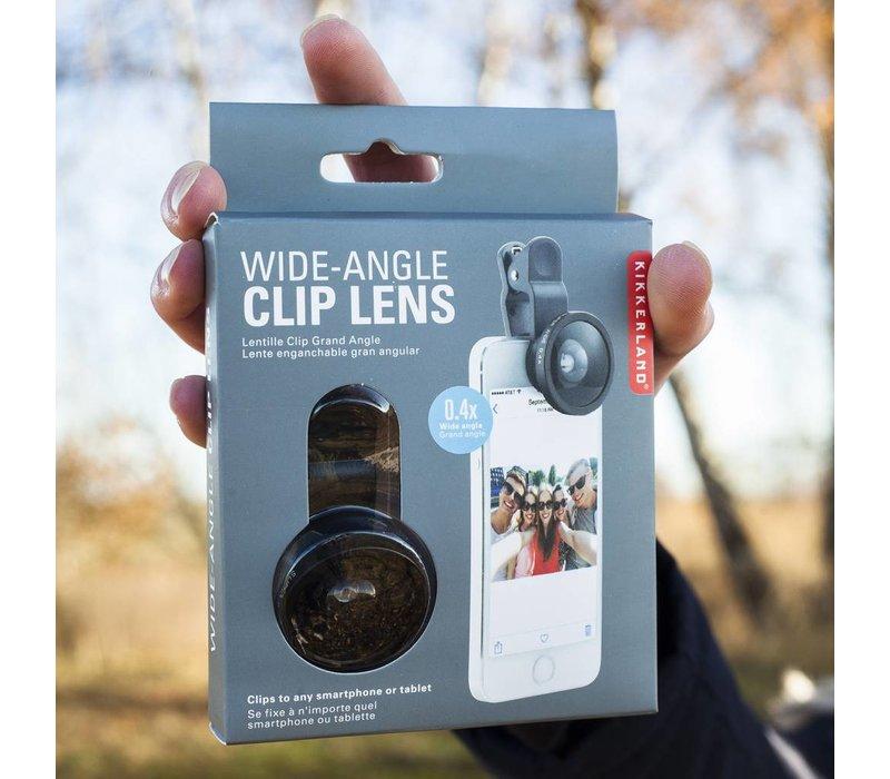 Wide-angle selfie lens