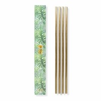 Set of 4 Metal Straws