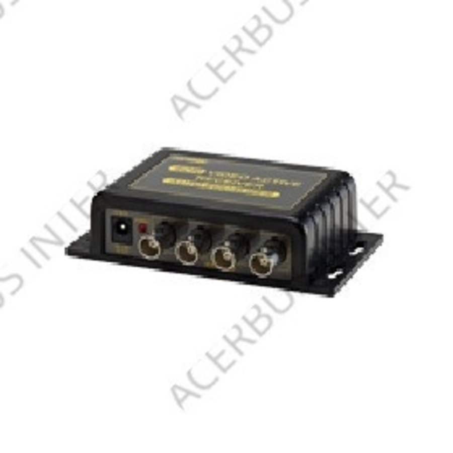 Actieve 4 kanaals RJ45 & terminal - BNC video ontvanger